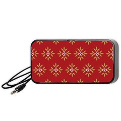 Pattern Background Holiday Portable Speaker