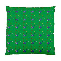 Bird Blue Feathers Wing Beak Standard Cushion Case (two Sides) by Celenk