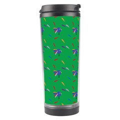 Bird Blue Feathers Wing Beak Travel Tumbler by Celenk