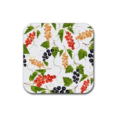Juicy Currants Rubber Coaster (square)  by TKKdesignsCo