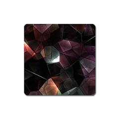 Crystals Background Design Luxury Square Magnet