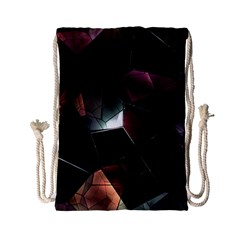 Crystals Background Design Luxury Drawstring Bag (small) by Celenk
