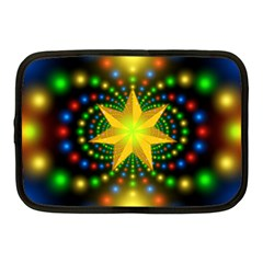 Christmas Star Fractal Symmetry Netbook Case (medium)  by Celenk