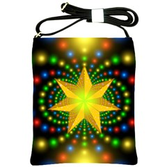 Christmas Star Fractal Symmetry Shoulder Sling Bags by Celenk