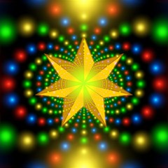 Christmas Star Fractal Symmetry Magic Photo Cubes