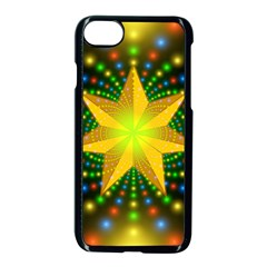 Christmas Star Fractal Symmetry Apple Iphone 7 Seamless Case (black)
