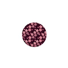 Cherry Blossoms Japanese Style Pink 1  Mini Buttons by Celenk