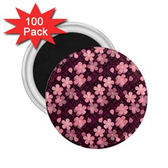 Cherry Blossoms Japanese Style Pink 2 25  Magnets (100 Pack)  by Celenk