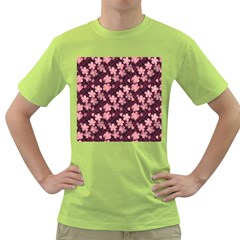 Cherry Blossoms Japanese Style Pink Green T Shirt