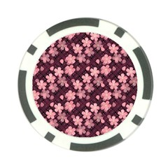 Cherry Blossoms Japanese Style Pink Poker Chip Card Guard