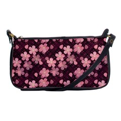 Cherry Blossoms Japanese Style Pink Shoulder Clutch Bags