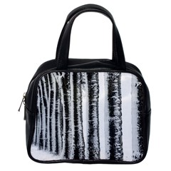 Row Trees Nature Birch Classic Handbags (one Side) by Celenk