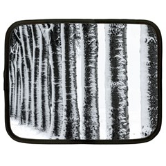 Row Trees Nature Birch Netbook Case (xl)