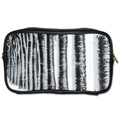 Row Trees Nature Birch Toiletries Bags 2 Side by Celenk
