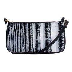 Row Trees Nature Birch Shoulder Clutch Bags by Celenk