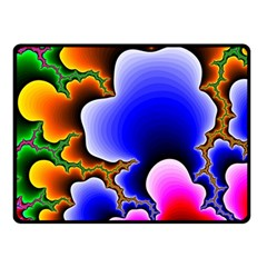 Fractal Background Pattern Color Double Sided Fleece Blanket (small)