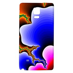 Fractal Background Pattern Color Galaxy Note 4 Back Case by Celenk