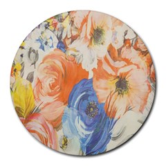 Texture Fabric Textile Detail Round Mousepads by Celenk