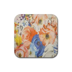 Texture Fabric Textile Detail Rubber Coaster (square)  by Celenk