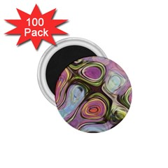 Retro Background Colorful Hippie 1 75  Magnets (100 Pack)  by Celenk