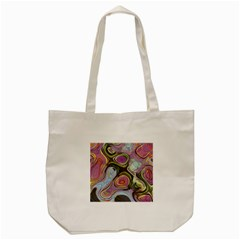 Retro Background Colorful Hippie Tote Bag (cream) by Celenk