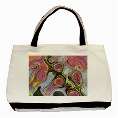 Retro Background Colorful Hippie Basic Tote Bag by Celenk