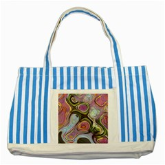 Retro Background Colorful Hippie Striped Blue Tote Bag
