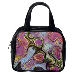 Retro Background Colorful Hippie Classic Handbags (one Side) by Celenk