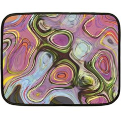 Retro Background Colorful Hippie Fleece Blanket (mini) by Celenk