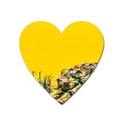 Pineapple Raw Sweet Tropical Food Heart Magnet
