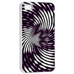 Background Texture Pattern Apple iPhone 4/4s Seamless Case (White) Front
