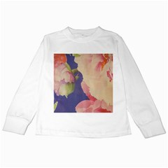 Fabric Textile Abstract Pattern Kids Long Sleeve T Shirts by Celenk