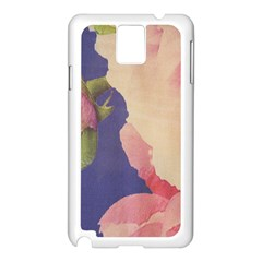 Fabric Textile Abstract Pattern Samsung Galaxy Note 3 N9005 Case (white)