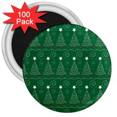 Christmas Tree Holiday Star 3  Magnets (100 Pack)