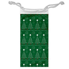 Christmas Tree Holiday Star Jewelry Bag by Celenk