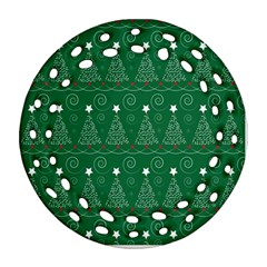Christmas Tree Holiday Star Ornament (round Filigree) by Celenk