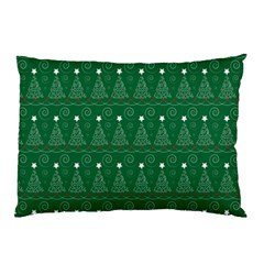 Christmas Tree Holiday Star Pillow Case (two Sides) by Celenk