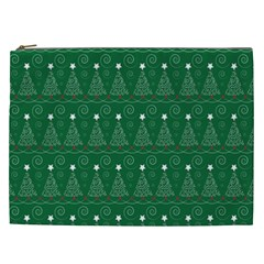 Christmas Tree Holiday Star Cosmetic Bag (xxl)  by Celenk