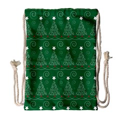 Christmas Tree Holiday Star Drawstring Bag (large) by Celenk