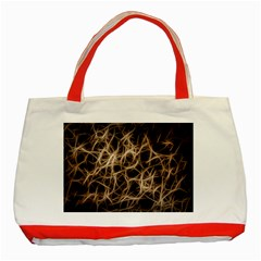 Structure Background Pattern Classic Tote Bag (red)