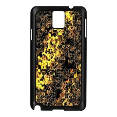 The Background Wallpaper Gold Samsung Galaxy Note 3 N9005 Case (black)