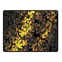 The Background Wallpaper Gold Double Sided Fleece Blanket (small)  by Celenk