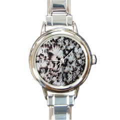 Pattern Wallpaper Organization Round Italian Charm Watch by Celenk