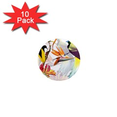 Birds Of Paradise 1  Mini Magnet (10 Pack)  by TKKdesignsCo