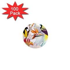 Birds Of Paradise 1  Mini Magnets (100 Pack)  by TKKdesignsCo