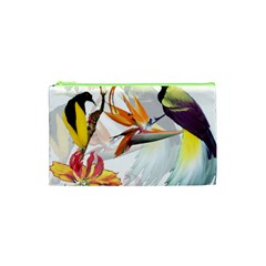 Birds Of Paradise Cosmetic Bag (xs) by TKKdesignsCo