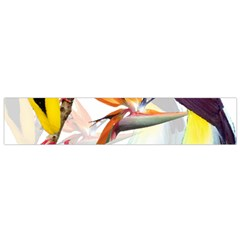 Exotic Birds Of Paradise And Flowers Watercolor Small Flano Scarf by TKKdesignsCo