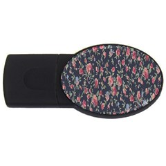 Pattern Flowers Pattern Flowers Usb Flash Drive Oval (4 Gb) by Celenk