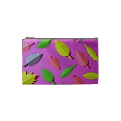 Leaves Autumn Nature Trees Cosmetic Bag (small)  by Celenk