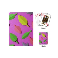 Leaves Autumn Nature Trees Playing Cards (mini)  by Celenk